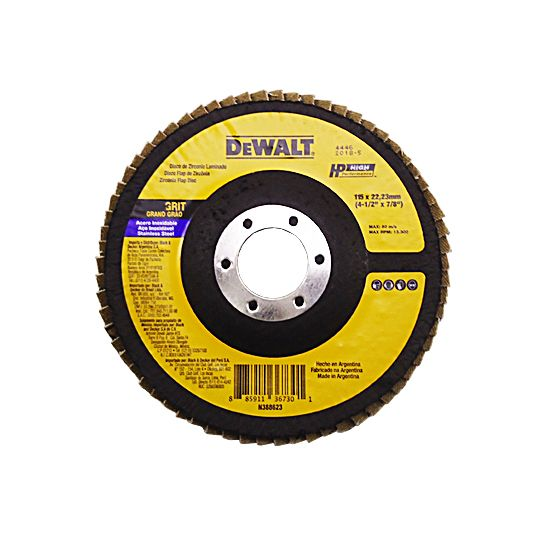 Disco Flap 4.1/2 X 7/8 Pol. Grãos 40 ou 120 P/ Aço – Dewalt