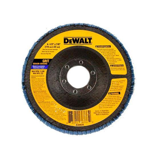 Disco Flap 4.1/2 X 7/8 Pol. Grãos 60 ou 80 P/ Metal – Dewalt