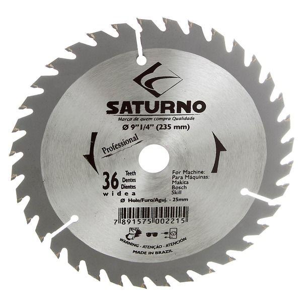 "Disco Serra Circular 9.1/4"" 36D Saturno"