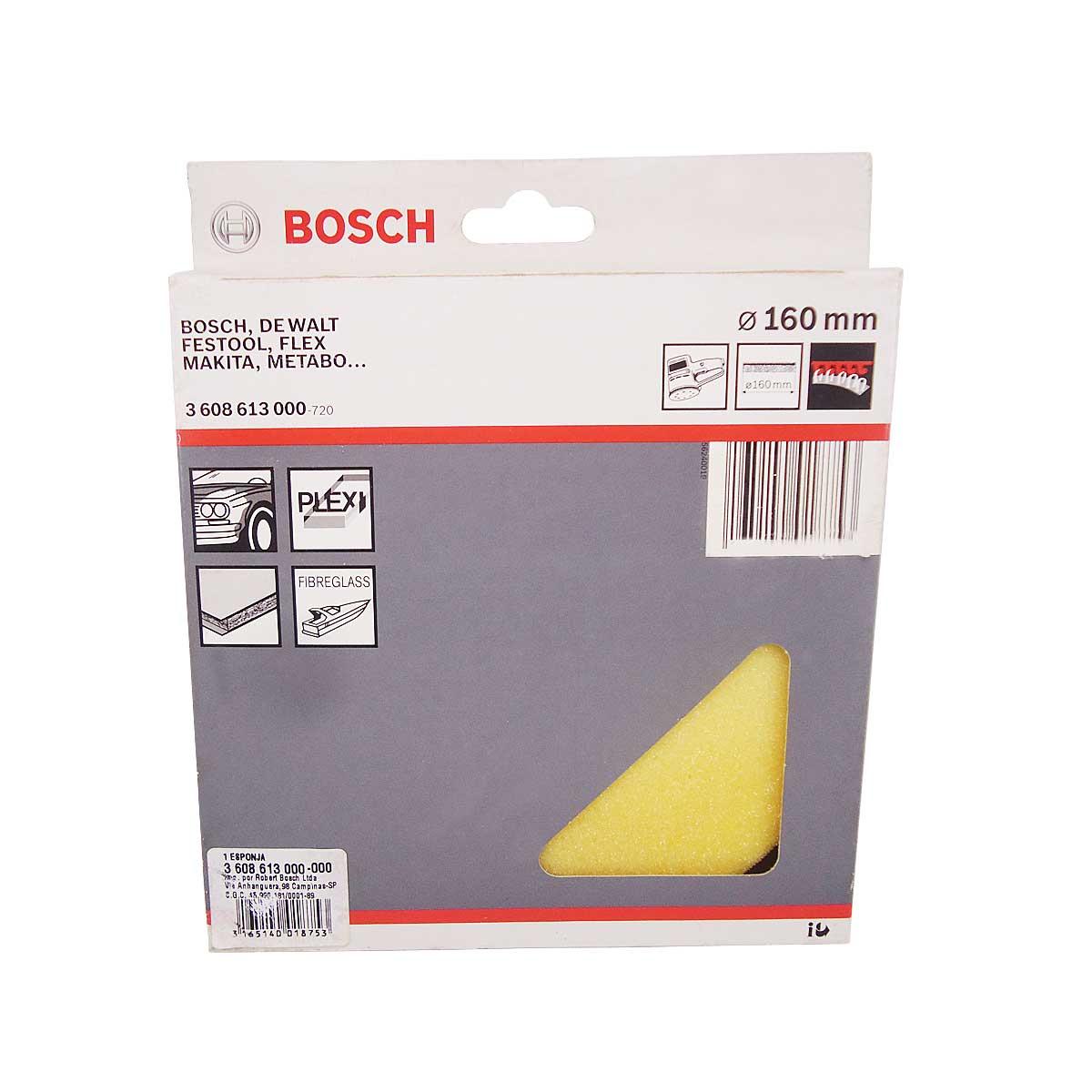 Esponja de Polir com Velcro 160mm Bosch 3608613