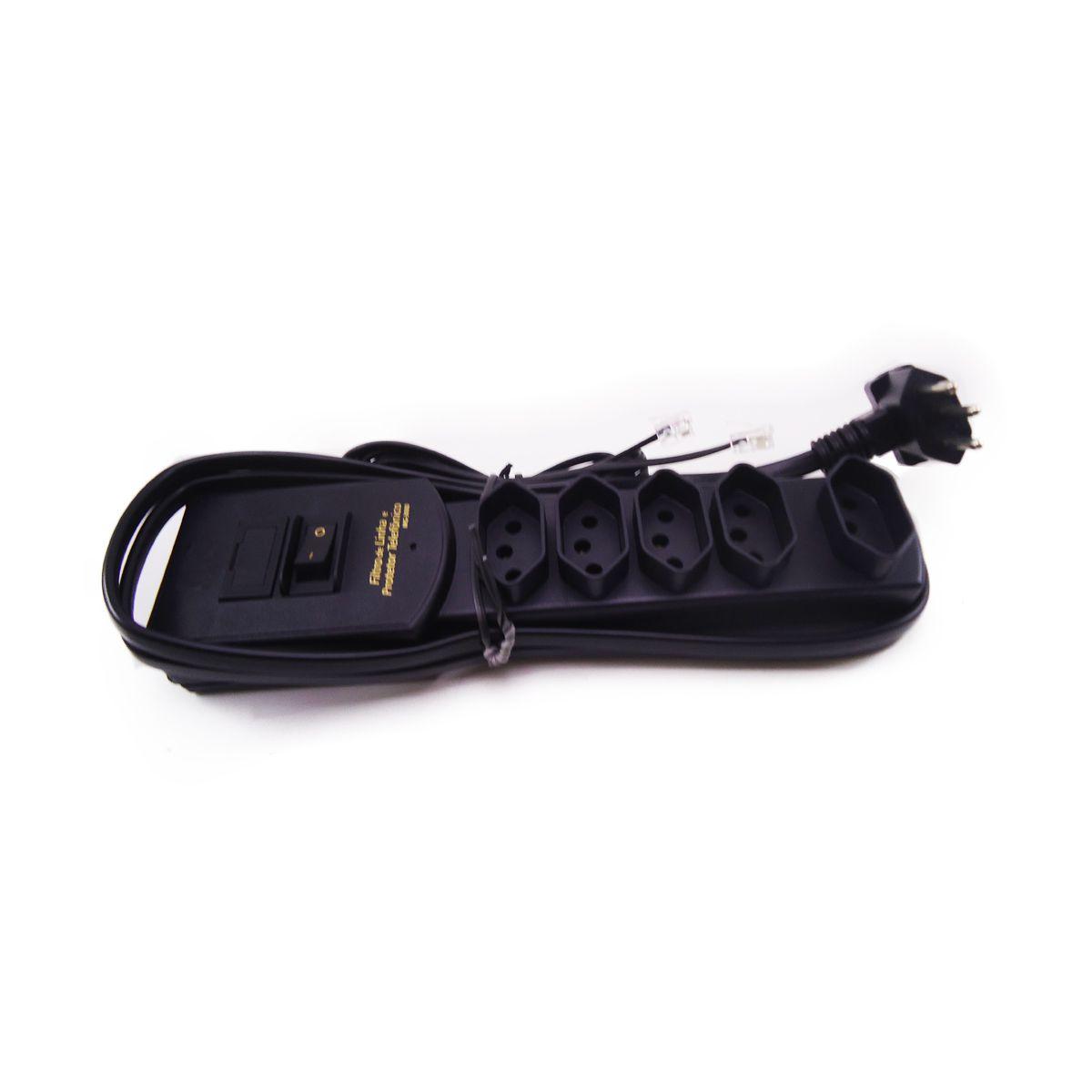 Filtro de Linha com Protetor Telefônico 1,5m Margirus MG-3060