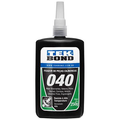 Fixador de peças cilíndricas 040 Tek Bond – 250g Resistente à alta temperatura