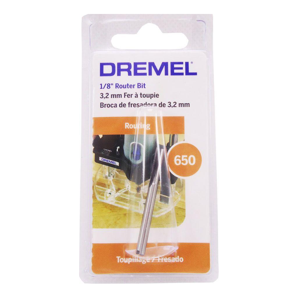 Fresa Cilindrica 1/8 - 3,2mm - Dremel 650