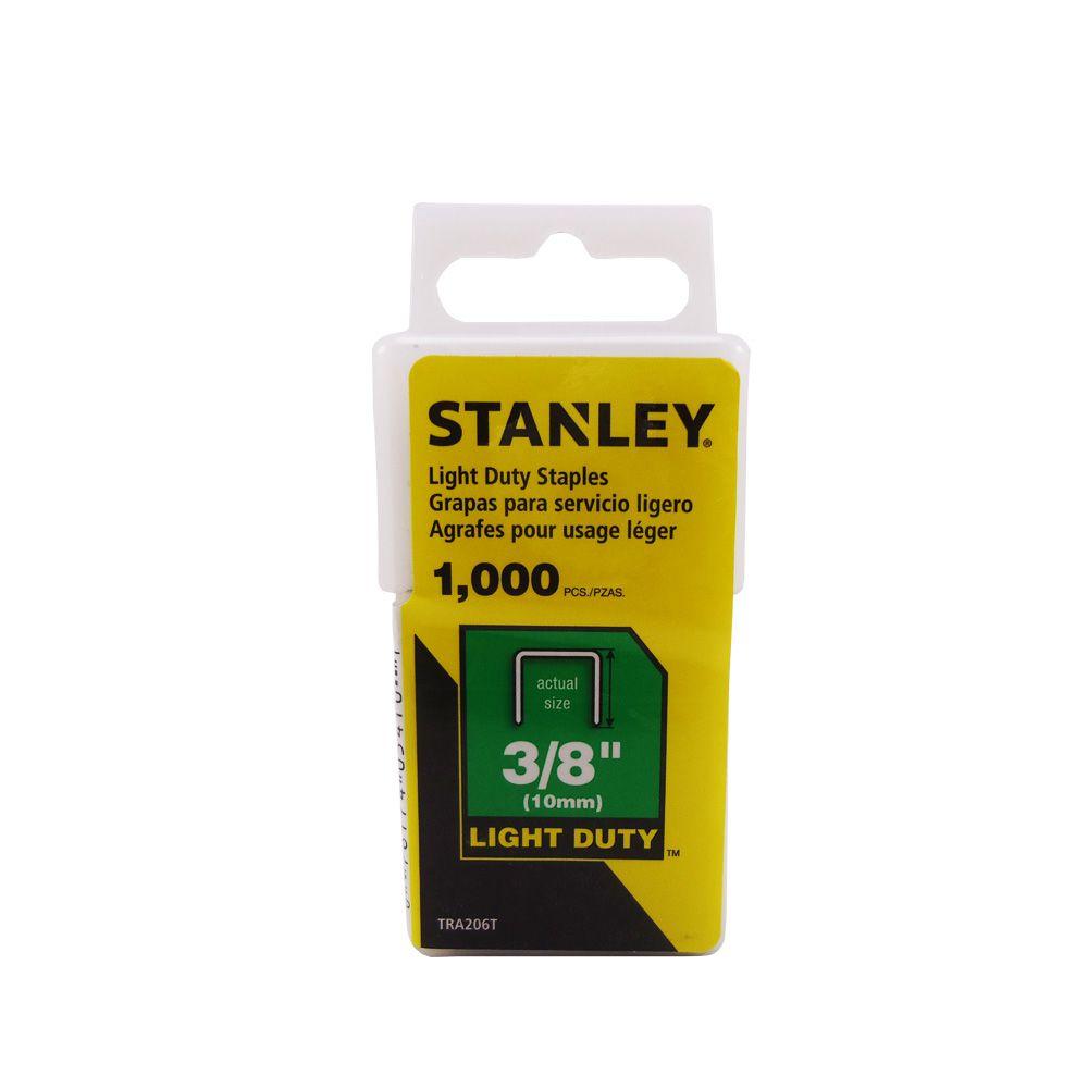 Grampos Stanley para trabalho pesado 3/8 10mm com 1000 un.