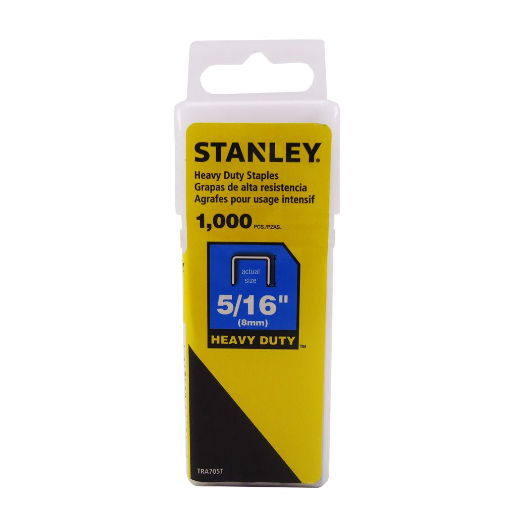Grampos Stanley para trabalho pesado 5/16 8mm com 1000 un.