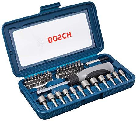 Jogo De Bits e Soquetes Bosch Com 46 Peças e Maleta