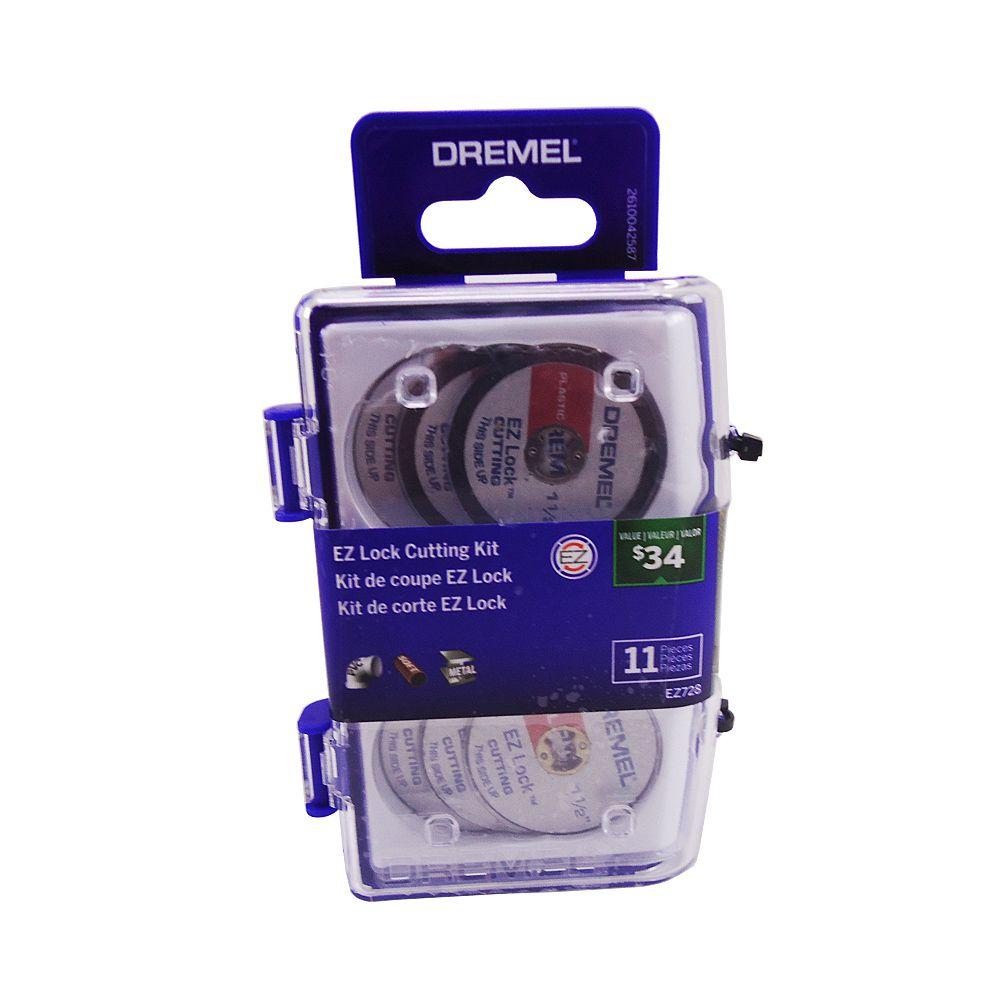 Kit Acessórios EZ Lock para Micro Retifica Com 11 peças Dremel EZ728