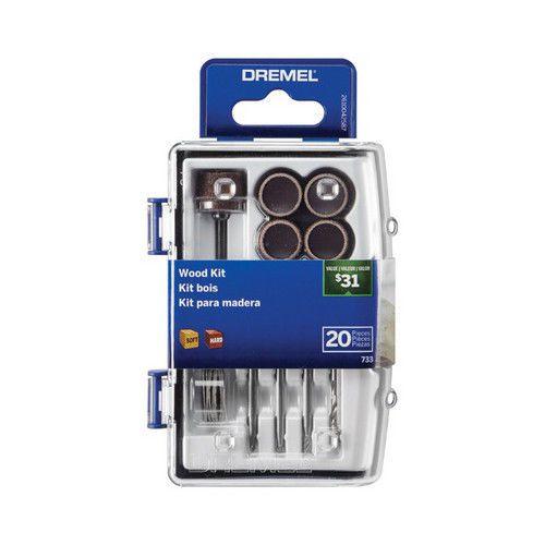 Kit Acessórios para Micro Retifica Com 20 peças Dremel  733