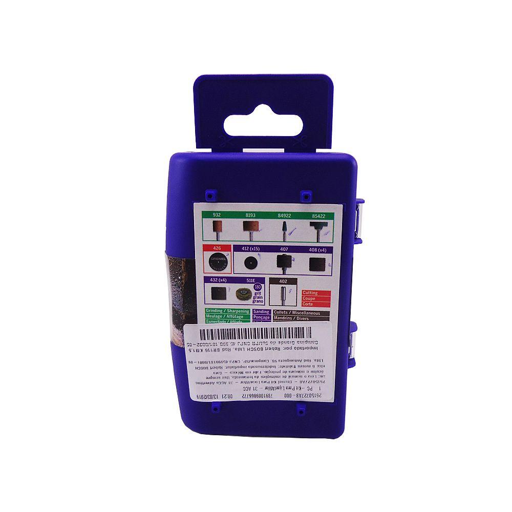 Kit Acessórios para Micro Retifica Com 31 peças Dremel 727