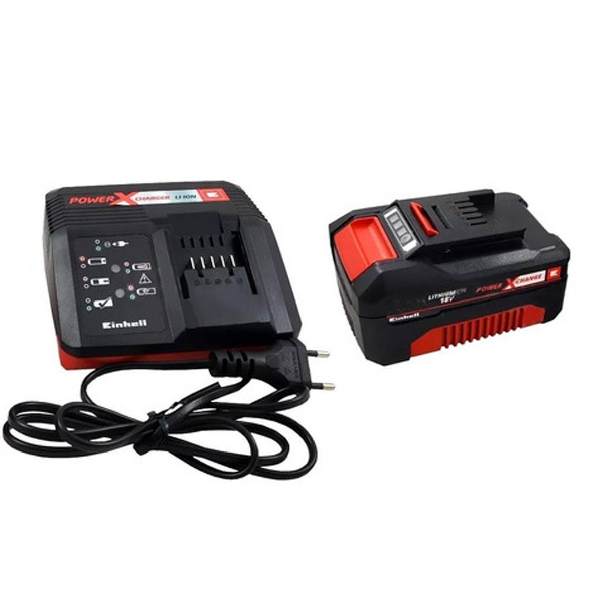 Kit Carregador Einhell Power X-Change Bivolt Com Bateria 18V 4.0Ah