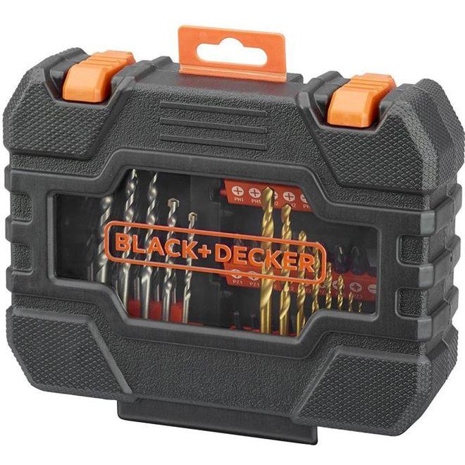 Kit de Brocas e bits com 50 peças a7232 - Black + Decker