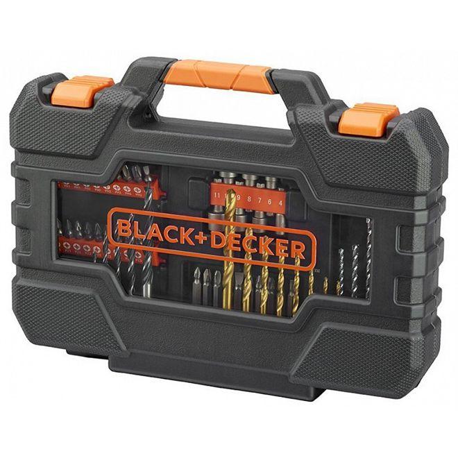 Kit de Brocas e Bits com 76 peças A7231 - Black + Decker