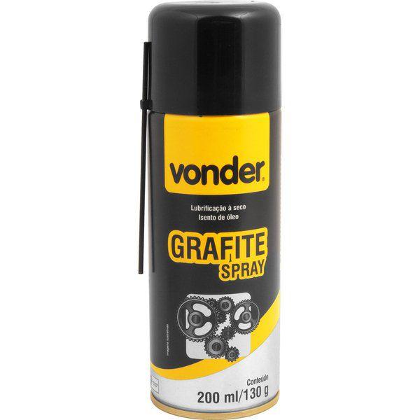 Lubrificante a Seco Grafite em spray 200ml VONDER