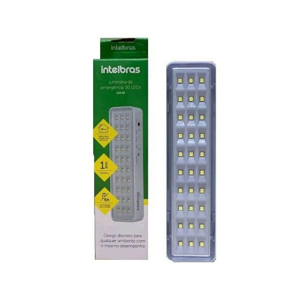 Luminária Emergência 30 Leds 100 Lúmens Intelbras