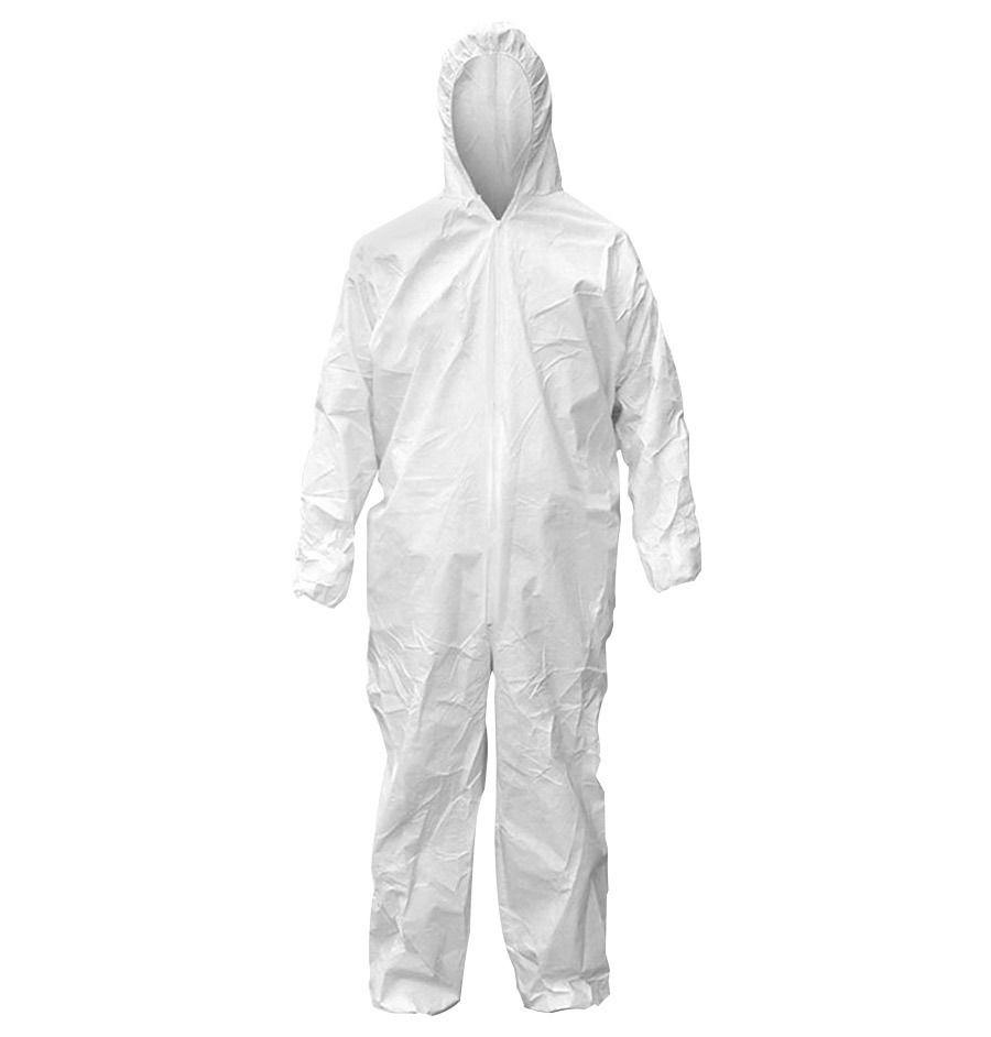 Macacão De Segurança Proteção Química C/ Capuz- Super Safety