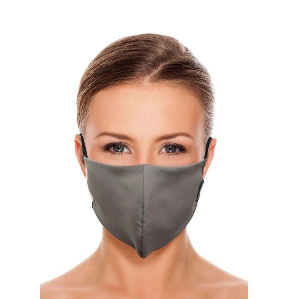 Máscara De Proteção Em Tecido Duplo Lavável Reutilizável