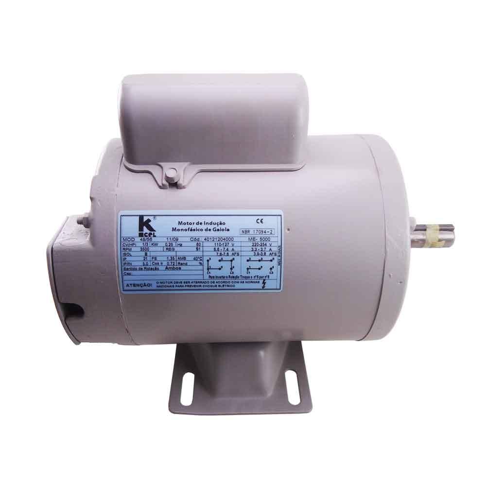 Motor de Indução Monofásico de Gaiola md. 48/56 Kcel
