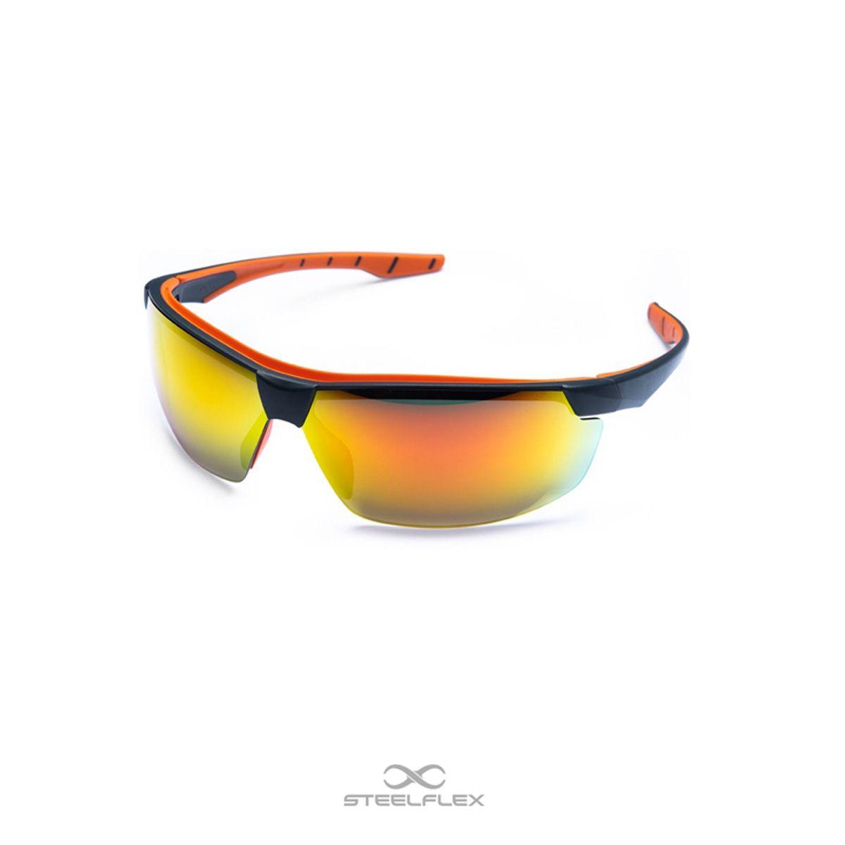 Óculos de Segurança Lente Vermelho Espelhado Steelflex