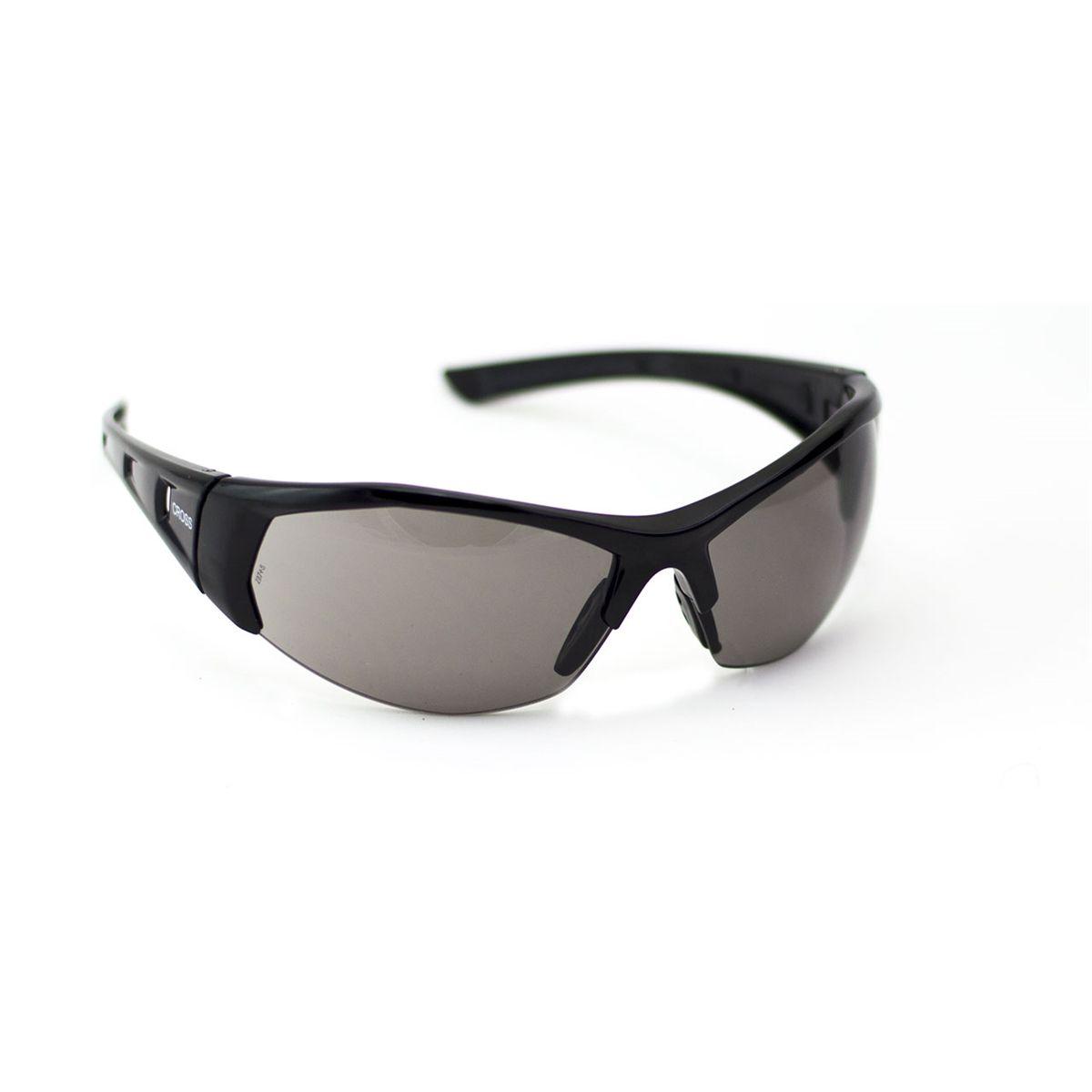 Óculos de Segurança - Militar Cross com Lente Cinza - STEEL PRO