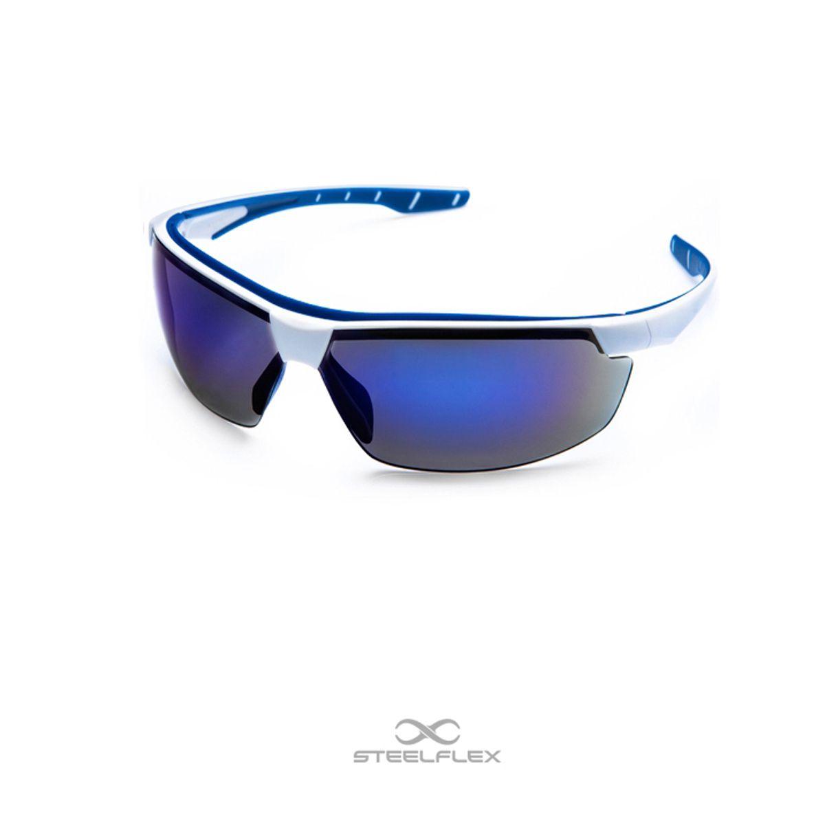 Óculos de Segurança Steelflex NEON – Lente Azul Espelhada