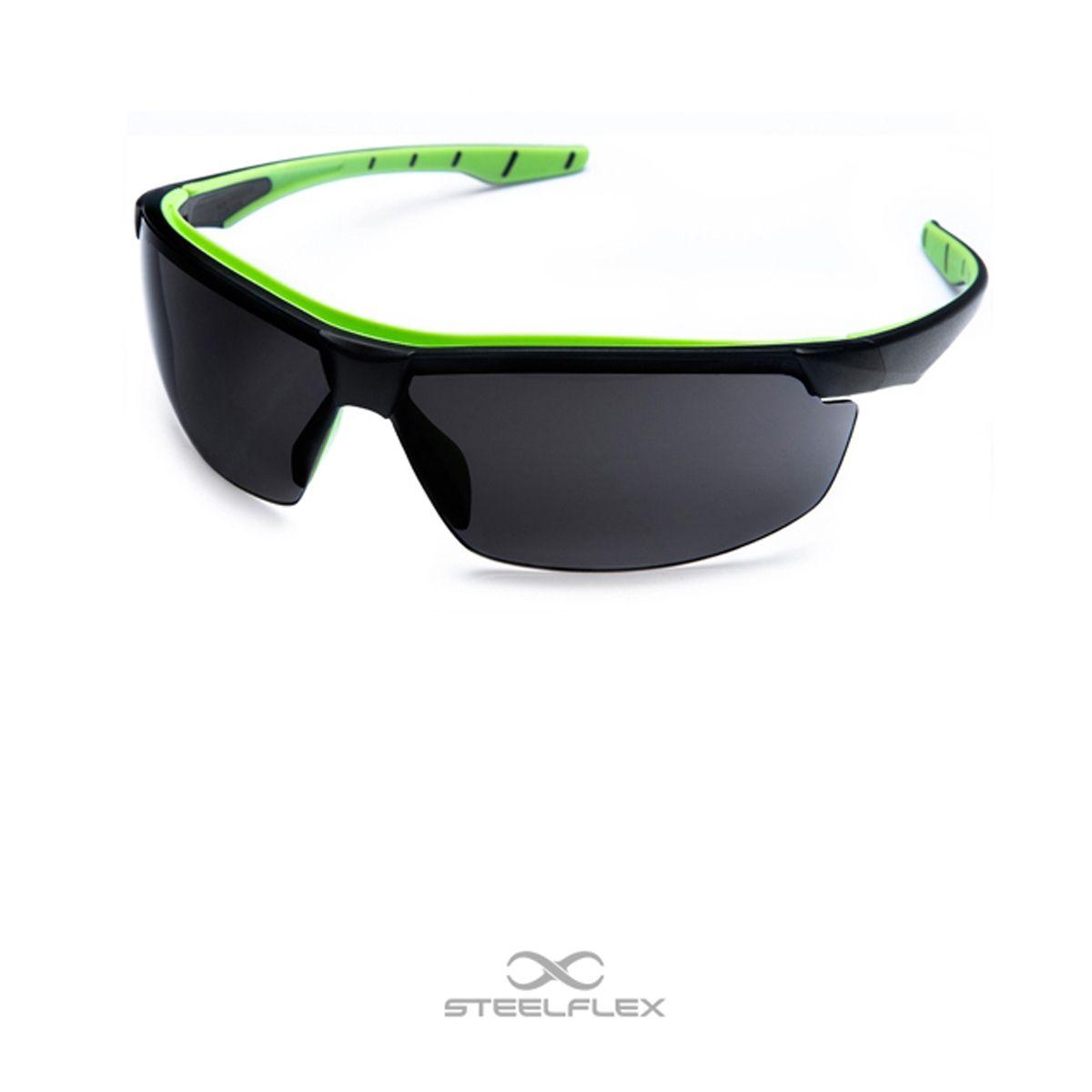 Óculos de Segurança Steelflex NEON Verde – Lente Cinza/Fumê