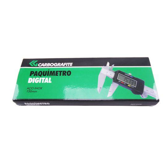 Paquímetro Digital Aço Inox 150mm - Carbografite