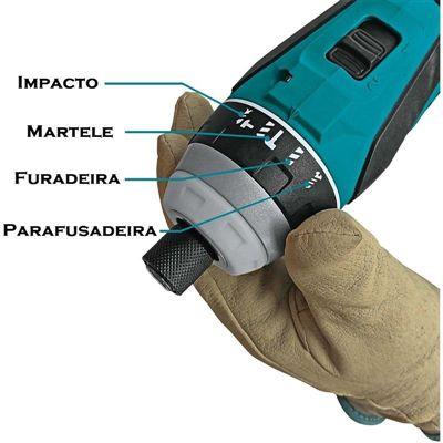 Parafusadeira de Impacto à Bateria Makita DTP141Z
