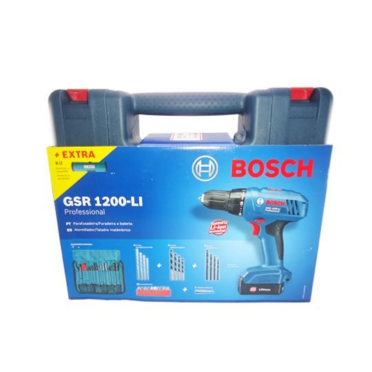 Parafusadeira/Furadeira 12V GSR 1200-LI 220V + KIT 23 Pç - Bosch