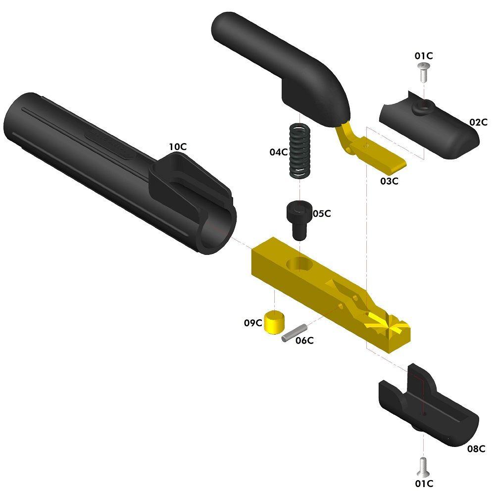 Porta Eletrodo C-1000 - Carbografite