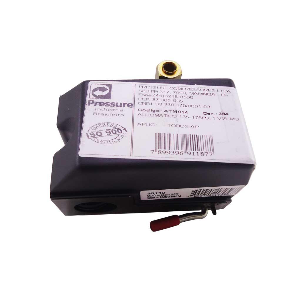 Pressostato Para Compressor 1 Via 135-175psi Pressure