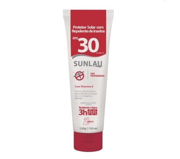 Protetor Solar C/ Repelente Sunlau Ft.30 - 120gr