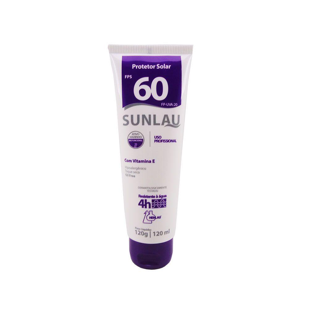 Protetor Solar UVA/UVB com Vitamina E / FPS 60 Sunlau 120ml