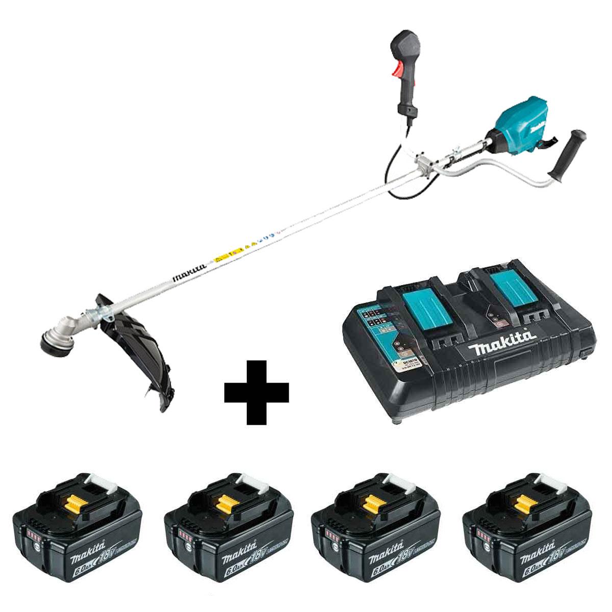 Roçadeira a bateria 18V DUR369AZ c/ Carregador e 4 Baterias