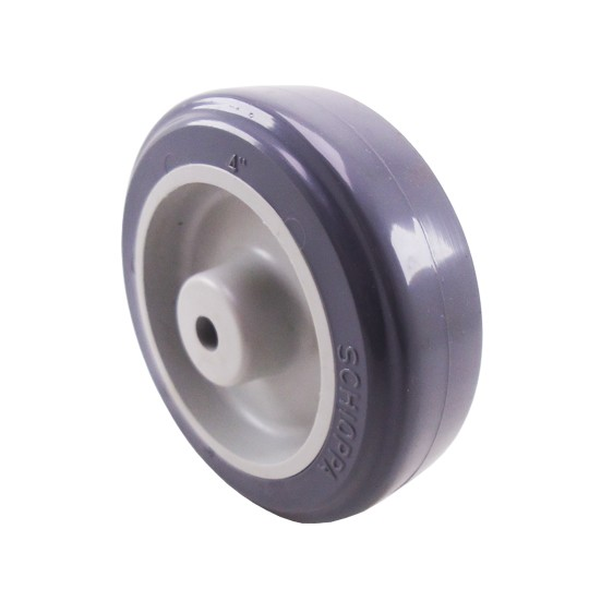 Roda Plástico Cinza 100mm até 65kg Schioppa