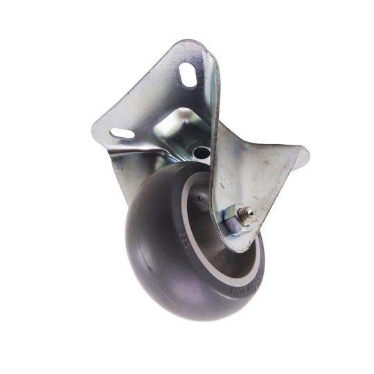 Rodizio Fixa Schioppa 60Kg Sem Freio 3 Pol. (75mm) - Cinza