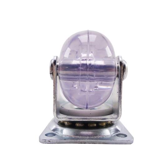 Rodizio Giratório Placa Gel 30Kg Transparente 1.3/8 Pol. – Schioppa