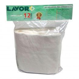 Saco 12 litros Descartável para Aspirador de Pó – Lavor