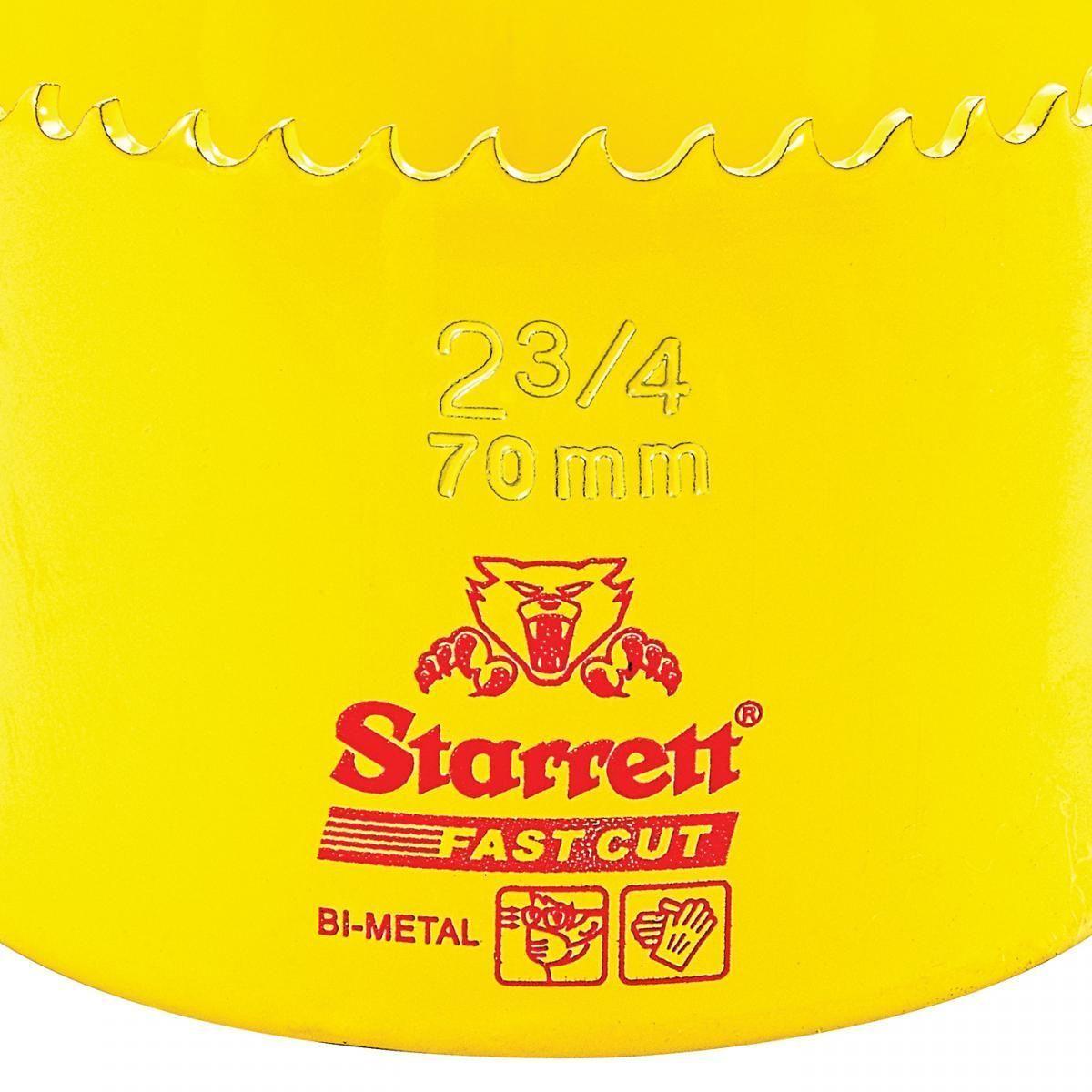 Serra Copo Fast Cut 2.3/4'' (70mm) - FCH0234-G – Starrett