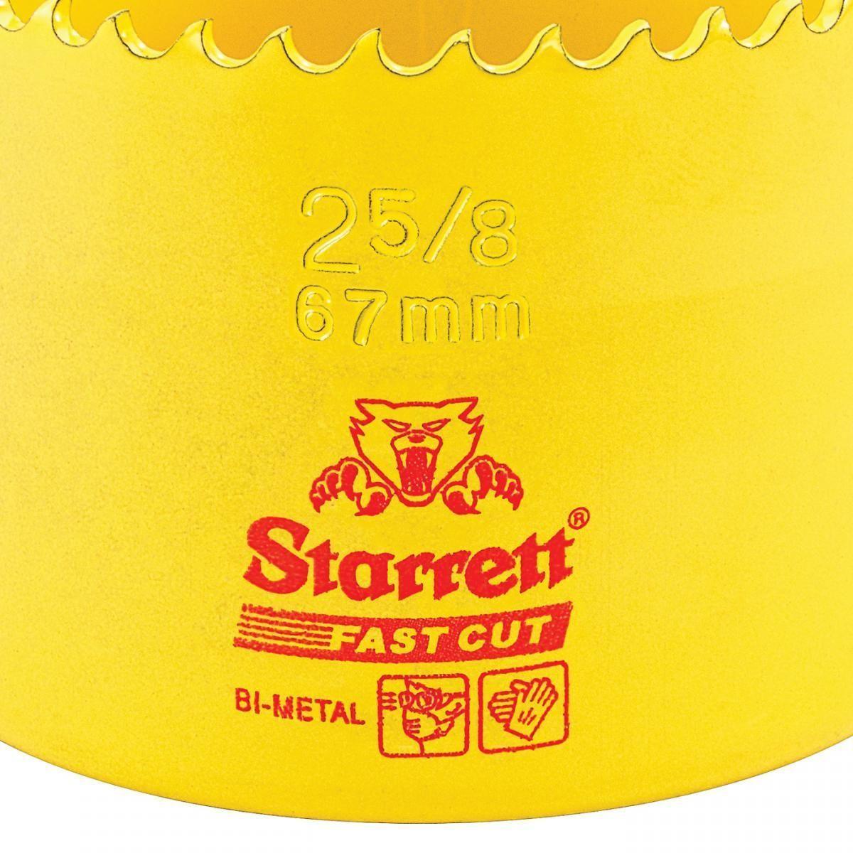 Serra Copo Fast Cut 2.5/8'' (67mm) - FCH0258-G Starrett