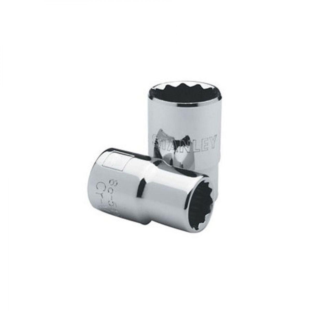 Soquete Curto Estriado 1/2 - 14 mm Ref. 86-546 Stanley