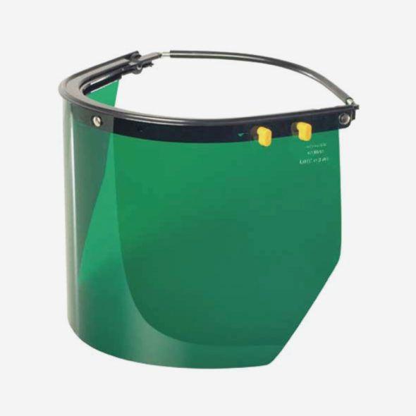 Suporte em Alumínio com Visor Verde p/ Capacete de Segurança Carbografite