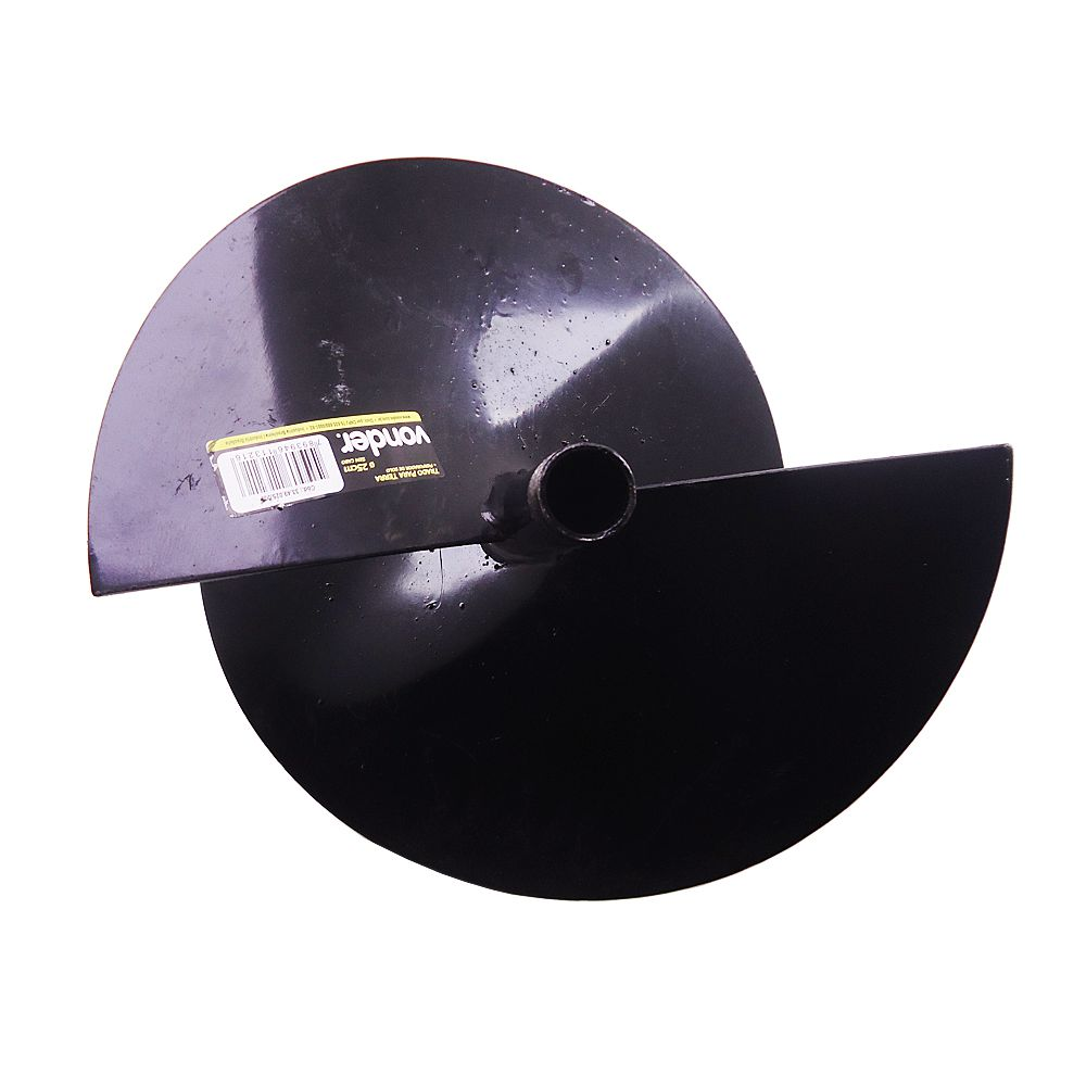 Trado/perfurador para terra 25 cm, sem cabo, VONDER
