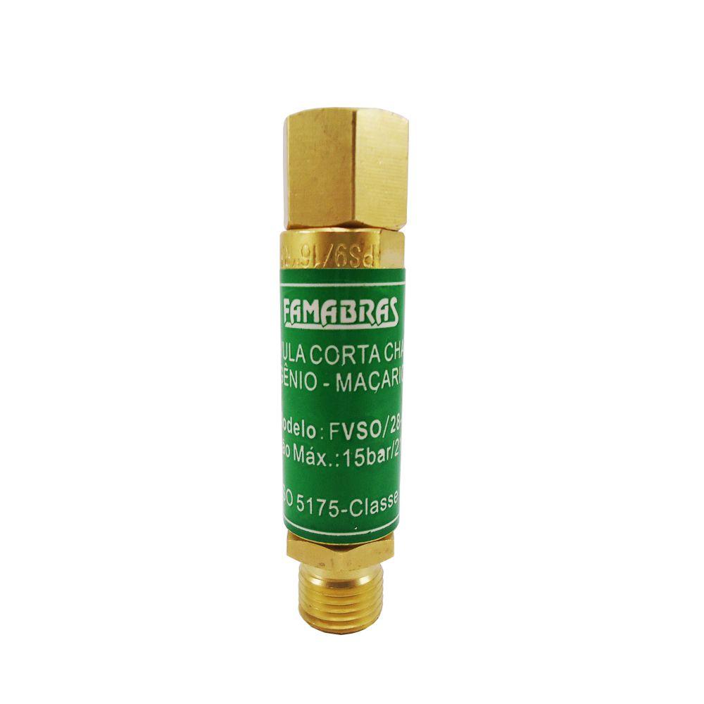 Válvula Corta Chama Maçarico Oxigênio - Famabrás