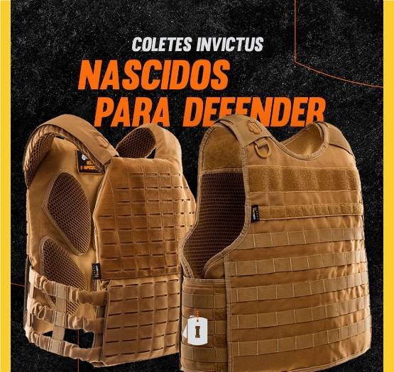 COLETES INVICTUS NASCIDOS PARA DEFENDER