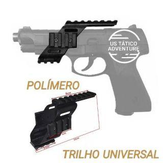 Trilho Mount Suporte Universal Polímero Para Pistolas