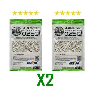 2 PACOTES Bbs Municao Airsoft F-bbs25 0.25g 1kg 4000un Bls(madbull)
