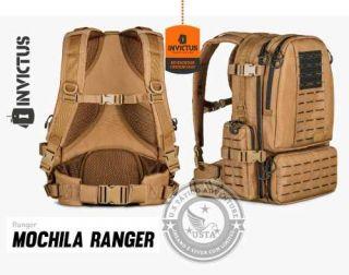 Mochila Ranger 2.0 Invictus Coyote C/Preto