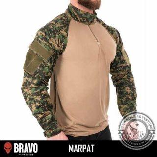 Combat Shirt Digital Marpat Bolsos C/velcro Bravo