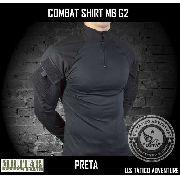 Combat Shirt Acu G2 Preta Com 2 Bolsos