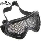 Óculos De Tela Respirável Proteção Militar Airsoft Preto